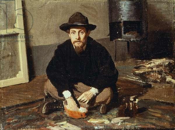 Portrait of Diego Martelli, circa 1865, by Giovanni Boldini (1842-1931), oil on canvas, 14.8x19 cm
