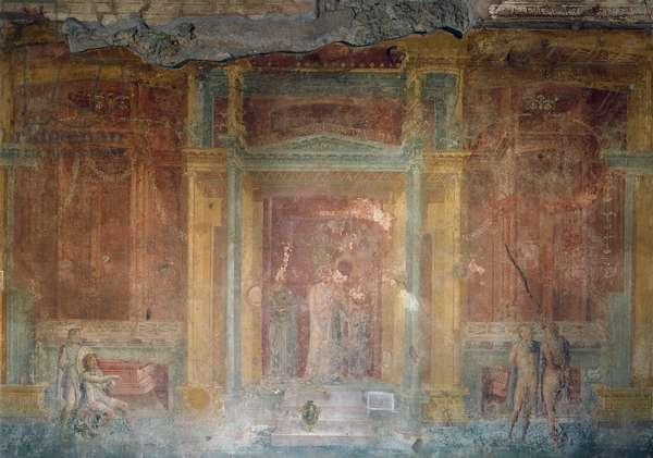 Fresco depicting Iphigenia in Tauris, House of Pinarius Cerialis, Pompeii (Unesco World Heritage), Campania, Italy, Roman civilization, 1st century BC