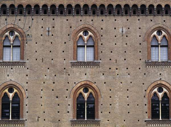 Visconti Castle, built between 1360 and 1365 and commissioned by Galeazzo II Visconti, Pavia, Lombardy, Italy