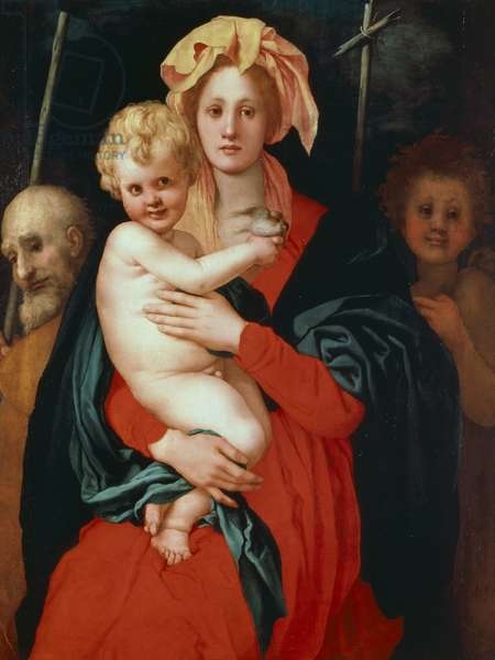 Madonna and Child with Saints Joseph and John the Baptist, 1521-22, by Jacopo Carucci known as Pontormo (1494-1557), oil on wood, 120x99 cm.