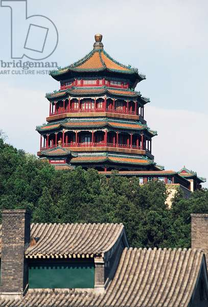 Tower of Fragrance of Buddha, Summer Palace (UNESCO World Heritage List 1998), Longevity Hill, Beijing (Beijing), China, 18th century