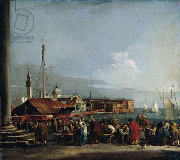 Austria, Vienna, View of StGeorge's Island in Venice