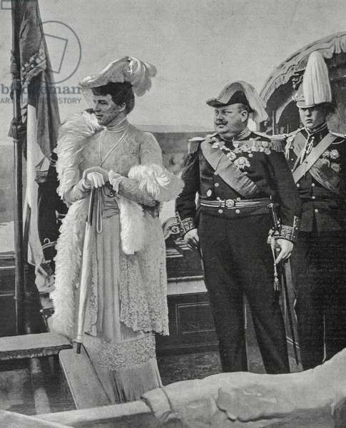 King Charles I of Portugal, Queen Amalia and Prince Louis of Braganza, Portugal, 20th century