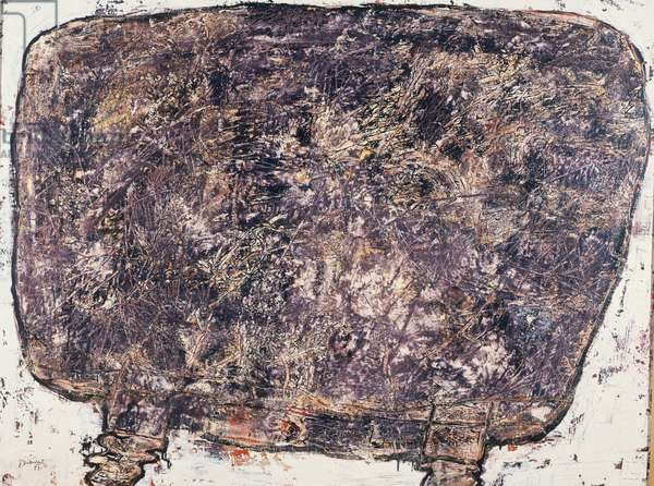 Table, assiduous companions, 1953, by Jean Dubuffet (1901-1985). France, 20th century.