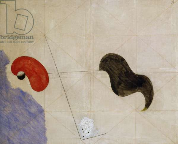 The catalan, 1925, by Joan Miro (1893-1983), oil and pencil on canvas, 100x81 cm. Spain, 20th century.