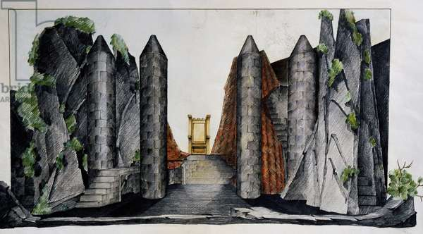 Scenography by Gae Aulenti (1927-2012) for The Lady of the Lake, by Gioacchino Rossini, 20th century