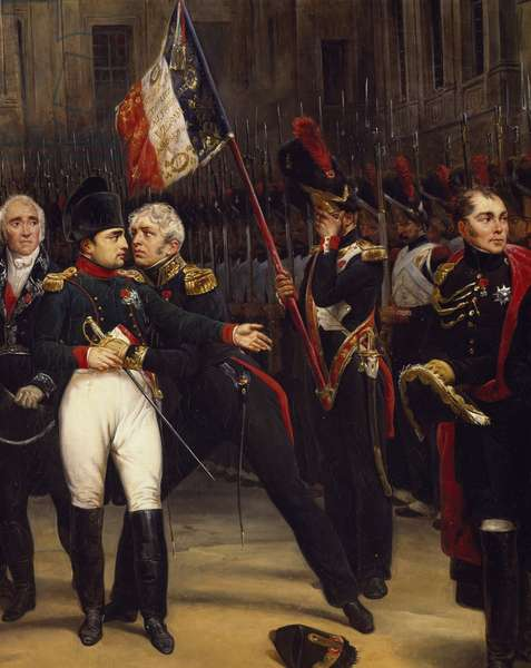 Napoleon's Farewell to Imperial Guard, April 20, 1814, by Horace Vernet (1789-1863) Detail, France, 19th century