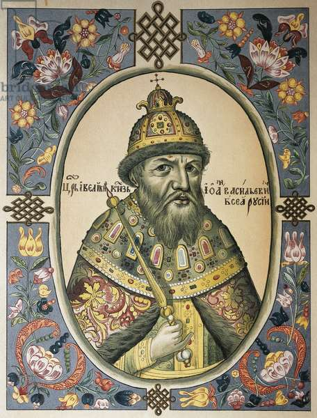 Portrait of Ivan IV the Terrible (Moscow, 1530-1584), Tsar of Russia, engraving