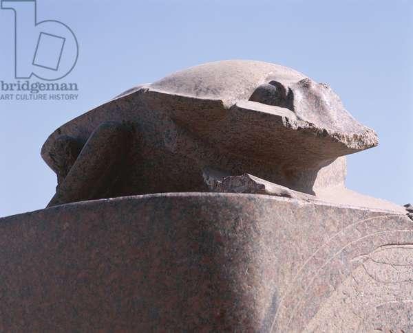 Egypt, Luxor, Karnak, Great Temple of Amon, sun god Atum-Khepri granite scarab