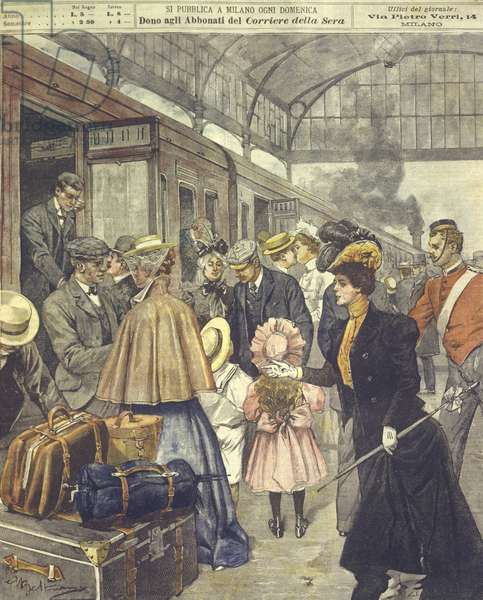 Cover illustration of British soldiers departing London to Africa during Anglo-Zulu and Anglo-Boer Wars of 1850-1902