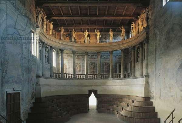 Teatro Olimpico, by architect Vincenzo Scamozzi (1552-1616), 1588-1590, Sabbioneta (UNESCO World Heritage List. 2008), Italy