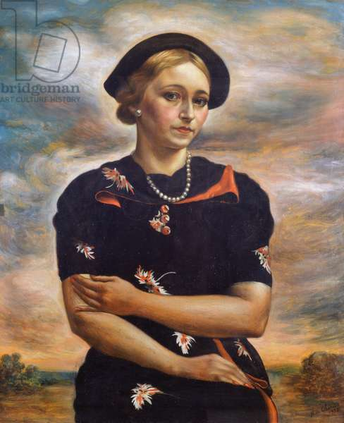 Autumn, 1935, by Giorgio de Chirico (1888-1978), oil on card, 73x60 cm. Italy, 20th century.
