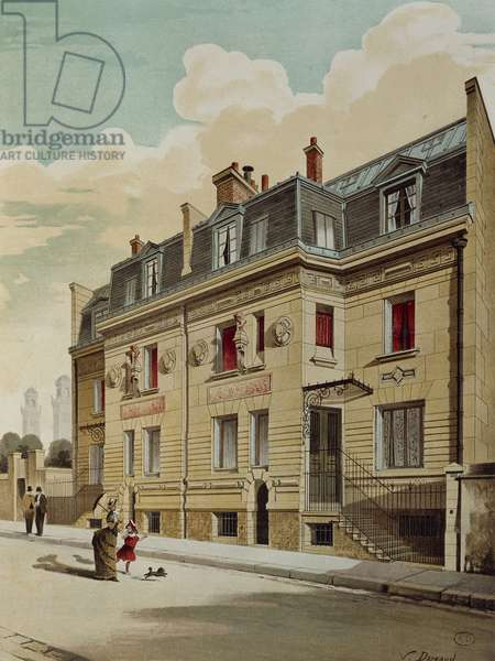 France, Paris, private house designed by architect M. Maillart in district urbanized by Georges-Eugene Haussmann, about 1880