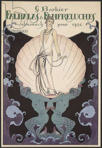 Falbalas et Fanfreluches, Almanac for 1924, front cover, by George Barbier, print