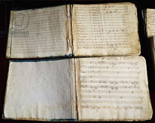 Elizabeth, Queen of England, handwritten score by Gioachino Rossini (1792-1868), Italy, 19th century