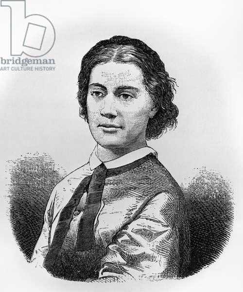 Portrait of Alexandrine Tinne (1835-1869), Dutch explorer, engraving from Die Sahara, oder Von Oase zu Oase, by Joseph Chavanne, Vienna, 1879