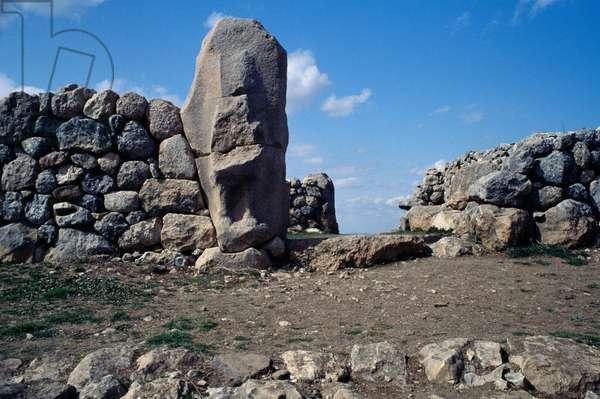 Gate in lower city of Hattusa (Bogazkoy), capital of Hittite empire (Unesco World Heritage List, 1986), Bogazkale, Turkey, Hittite civilization, 13th century BC
