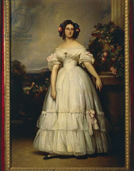 Clementine Marie d'Orleans, 1845 (oil on canvas)