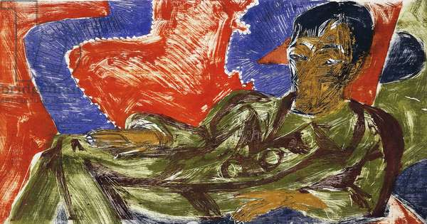 Portrait of the painter Otto Mueller, 1915, by Ernst Ludwig Kirchner (1880-1938)