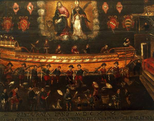 Signboard of the Guild of Ship Building in the Arsenale of Venice, Italy, 17th century