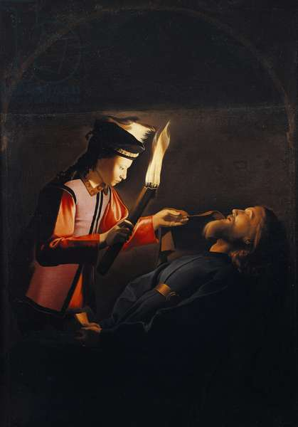 Discovery of body of St Alexis or death of St Alexis, by Georges de La Tour (1593-1652)