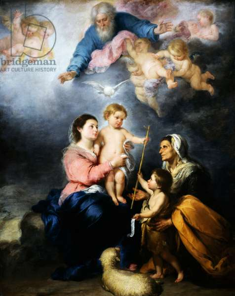 The Holy Family (The Seville Virgin), 1680 (oil on canvas)