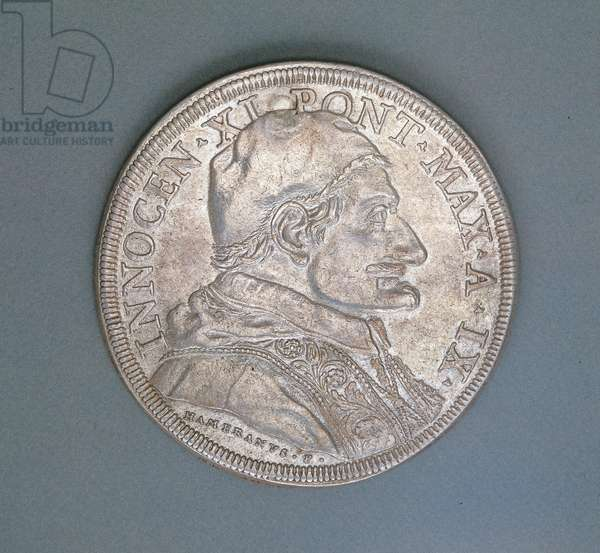 Coin depicting Pope Innocent XI, 1684 (silver)