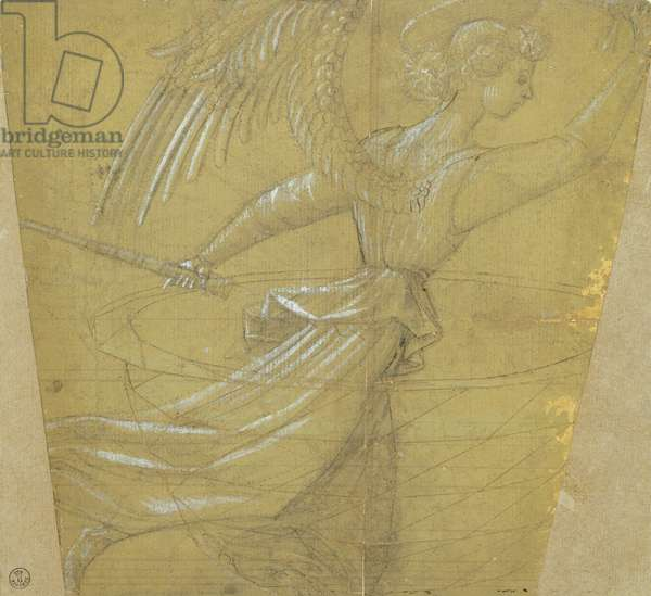 Study of chalice with angel, Paolo Uccello (1397-1475), drawing
