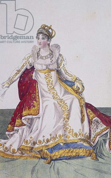 Portrait of Josephine de Beauharnais (Les Trois-Ilets, 1763-Paris, 1814), first wife of Napoleon Bonaparte, dressed for Napoleon's coronation in 1805.