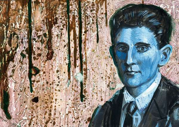 Portrait of Franz Kafka (Prague, 1883-Kierling, 1924), german-language Czech writer, illustration