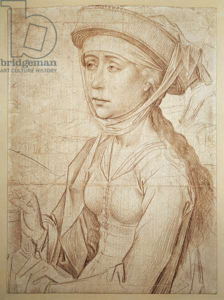 half figure of Magdalene (drawing)