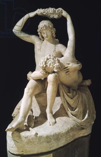 Venus crowning Love by Antonio Canova (1757-1822), plaster model, 1789