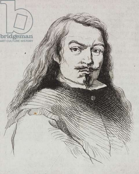 Portrait of Bartolome Esteban Perez Murillo (1618-1682), Spanish painter, engraving from L'album, giornale letterario e di belle arti, April 21, 1838, Year 5