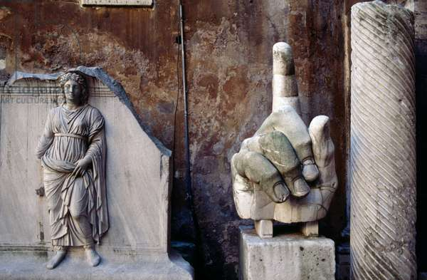 Right hand from colossal statue of Constantine, 313-324 AD, Italy, Roman civilization, 4th century AD