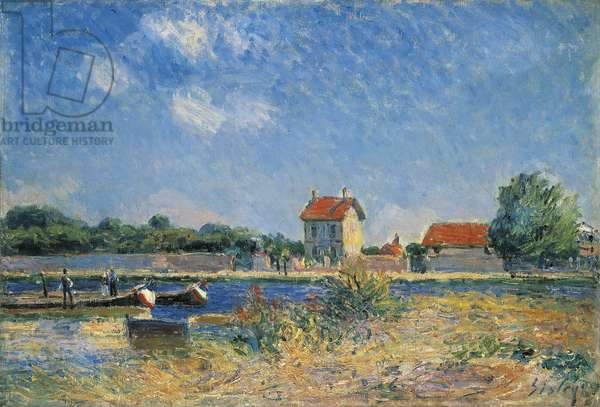 The Banks of the Canal du Loing at Saint-Mammes, 1888