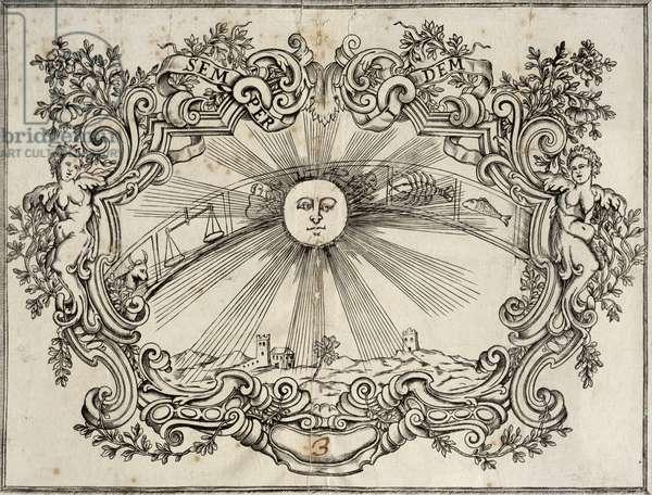Entry ticket to the theatre of San Giovanni Crisostomo in Venice, Italy, late 18th century