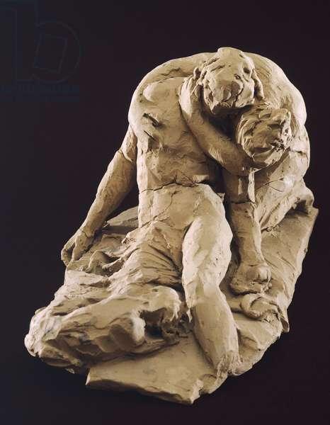 Venus and Adonis by Antonio Canova (1757-1822), model in clay, 1787