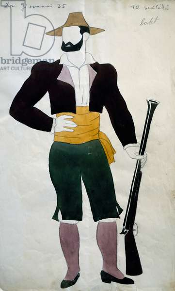 Costume for Don Giovanni by Wolfgang Amadeus Mozart, Prague National Theatre, 1937