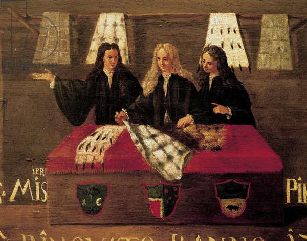 Signboard of Guild of furriers in Venice, 1730, Italy, 18th century, detail