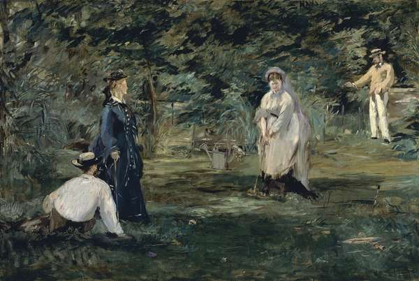 Game of croquet, 1873, by Edouard Manet (1832-1883), oil on canvas, 72x106 cm