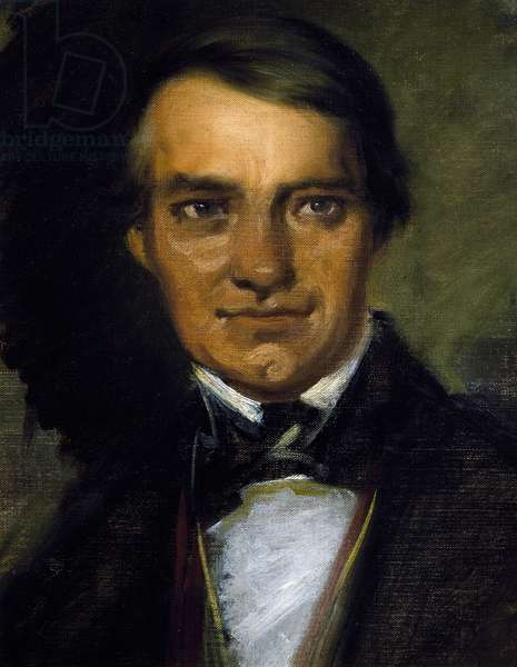 Self-portrait by Ferdinand Schubert (1794-1859), brother of composer Franz Schubert (1797-1828)