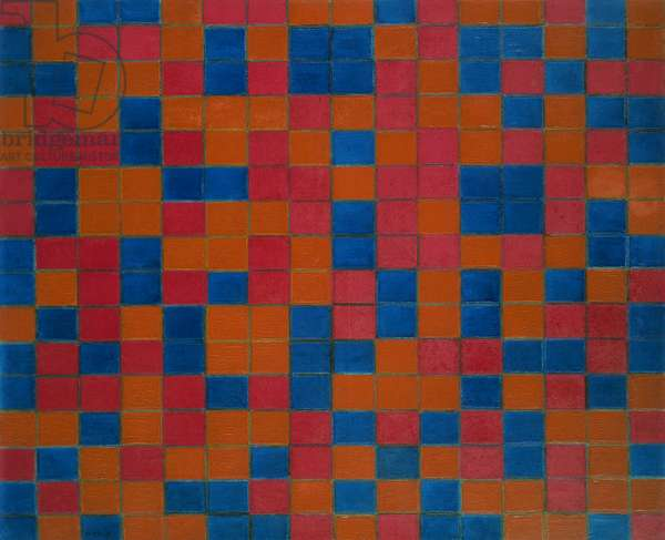 Checker board composition with dark colours, 1919, by Piet Mondrian (1872-1944). Netherlands, 20th century.