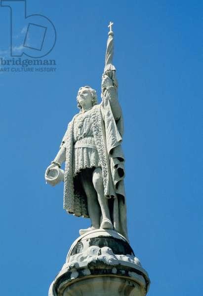 Statue of Christopher Columbus (1451-1506) in San Juan, Puerto Rico