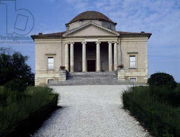 Facade of Villa Pisani, also known as La Rocca, by Vincenzo Scamozzi (1552-1616) Lonigo, Veneto, Italy, 1576