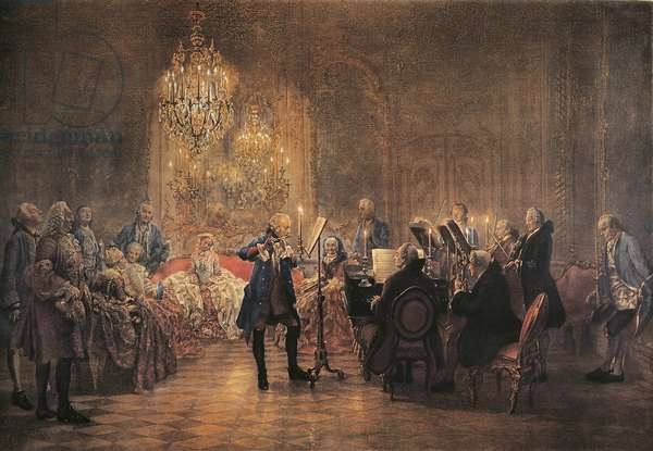 Concert for flute with Frederick the Great in Sanssouci, 1852 (oil on canvas)