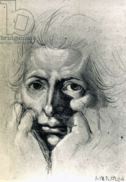 Study for self-portrait, by Henry Fuseli (1741-1825), drawing. Switzerland, 18th century.