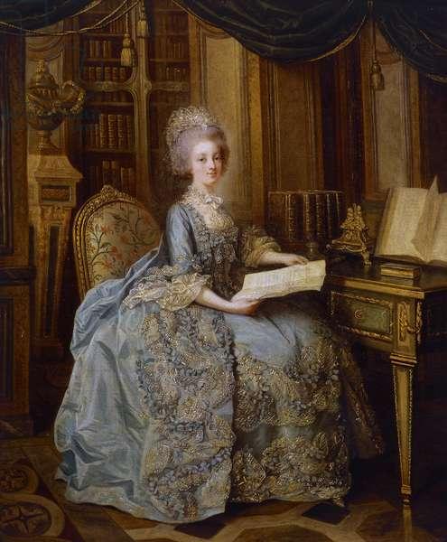 La Petite Reine or Portrait of Madame Sophie, c.1770-74 (oil on canvas)
