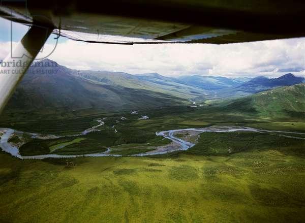 USA, Alaska, Arctic National Park, aerial view (photo)