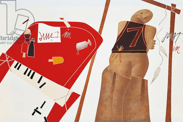 Untitled, by Emilio Tadini (1927-2002). Italy, 20th century.