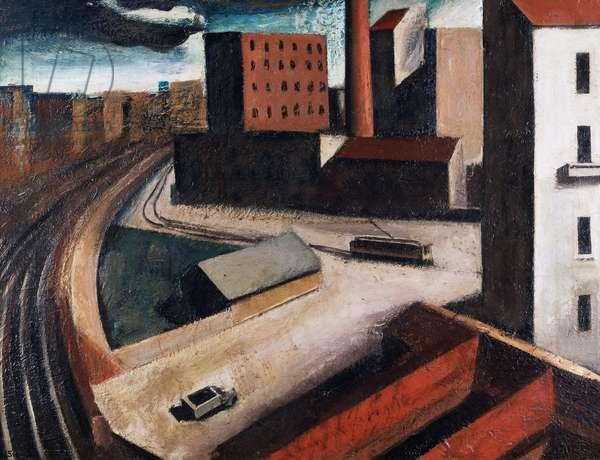 Suburbs, 1922, (oil on canvas)